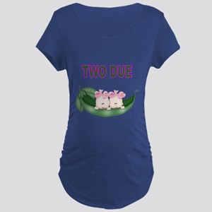 DOUBLE BLESSING-TWIN GIRLS Maternity T-Shirt