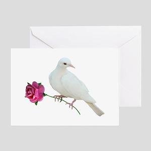 Dove Rose Greeting Card