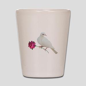 Dove Rose Shot Glass
