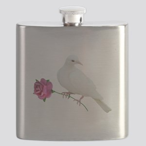 Dove Rose Flask