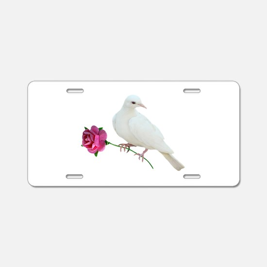 Dove Rose Aluminum License Plate