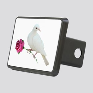 Dove Rose Rectangular Hitch Cover