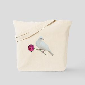 Dove Rose Tote Bag