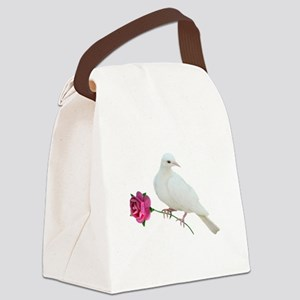 Dove Rose Canvas Lunch Bag