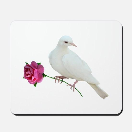 Dove Rose Mousepad