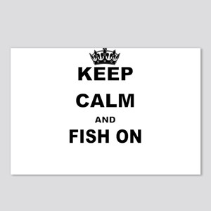 KEEP CALM AND FISH ON Postcards (Package of 8)