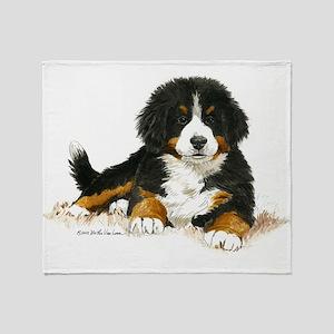 Bernese Mountain Dog Bright Eyes Throw Blanket