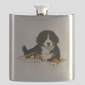 Bernese Mountain Dog Bright Eyes Flask