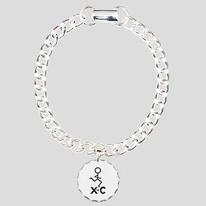 Cross Country X-C Charm Bracelet, One Charm