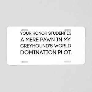 Greyhound Honor Student Aluminum License Plate