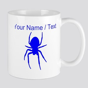 Custom Blue Spider Mugs