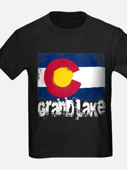 Grand Lake Grunge Flag T