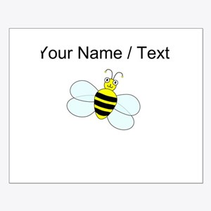 Custom Cartoon Bee Poster Design