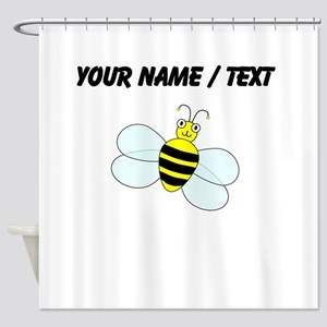 Custom Cartoon Bee Shower Curtain