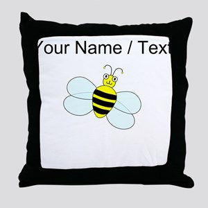 Custom Cartoon Bee Throw Pillow