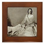 Lady Love Borzoi Framed Tile
