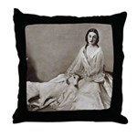 Lady Love Borzoi Throw Pillow