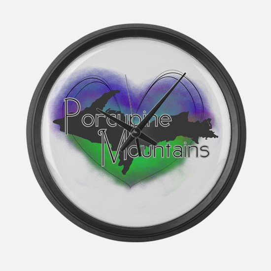 Aurora Porcupine Mts Large Wall Clock