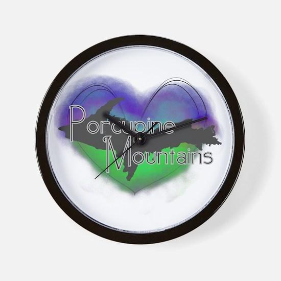 Aurora Porcupine Mts Wall Clock
