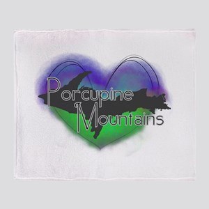 Aurora Porcupine Mts Throw Blanket