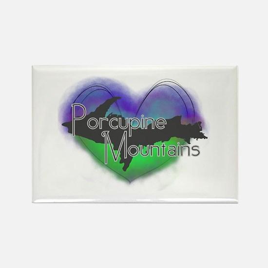 Aurora Porcupine Mts Rectangle Magnet