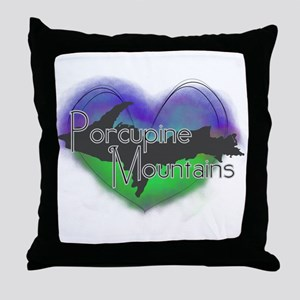 Aurora Porcupine Mts Throw Pillow