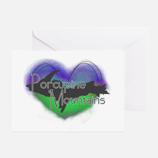Aurora Porcupine Mts Greeting Card
