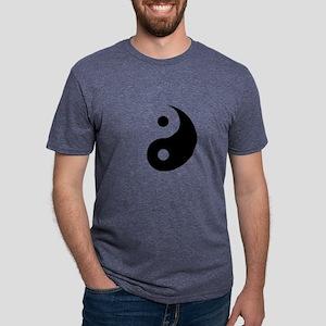 Minimalist Yin Yang Symbol Mens Tri-blend T-Shirt