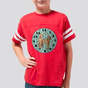 Redbone Coonhound Wall Clock Youth Football Shirt