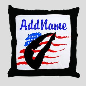 AMERICAN DIVER Throw Pillow