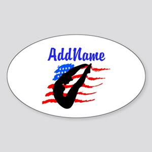 AMERICAN DIVER Sticker (Oval)