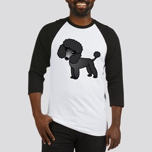 Cute Poodle Black Coat Baseball Jersey