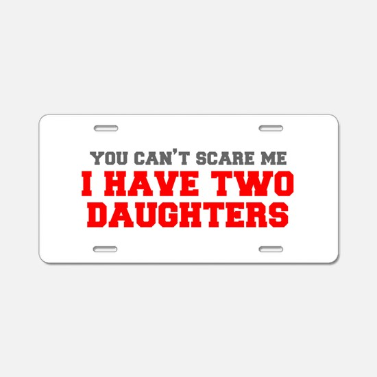 two-daughters-fresh-gray-red-3000 Aluminum License