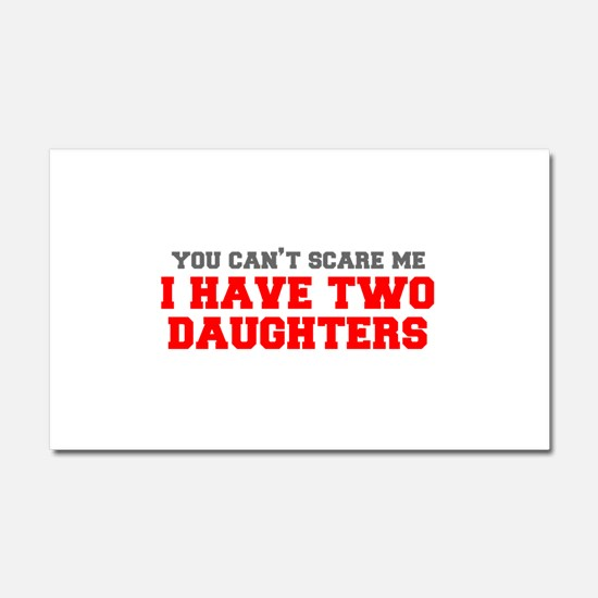 two-daughters-fresh-gray-red-3000 Car Magnet 20 x