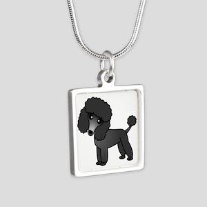 Cute Poodle Black Coat Necklaces