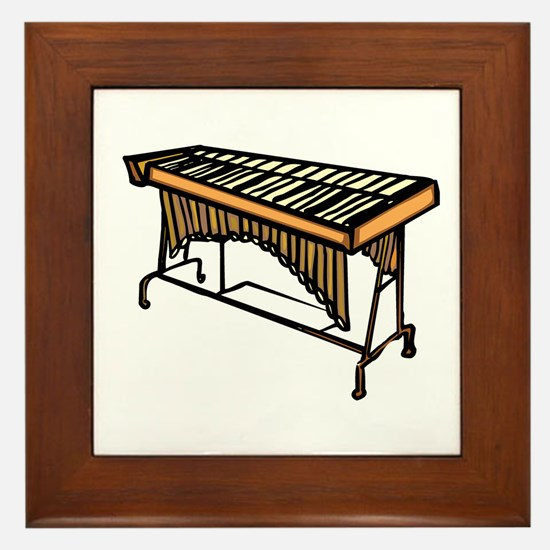vibraphone simple instrument design Framed Tile