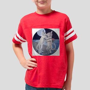 kissing_cats_round Youth Football Shirt