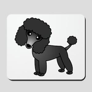 Cute Poodle Black Coat Mousepad