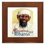 Osama Obama '08 Framed Tile