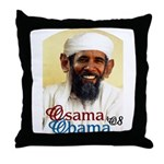 Osama Obama '08 Throw Pillow