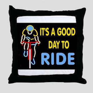 CYCLIST Throw Pillow