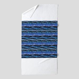 Sparkling Waves Beach Towel
