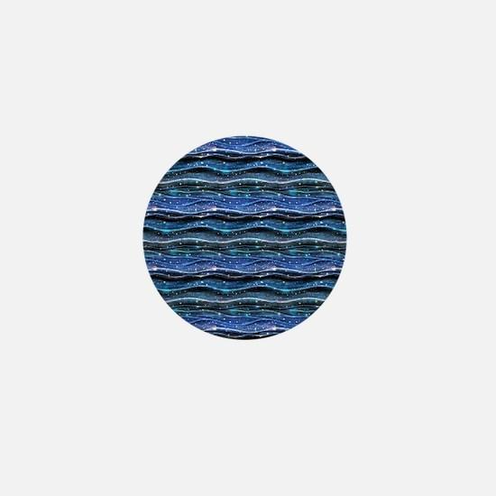 Sparkling Waves Mini Button