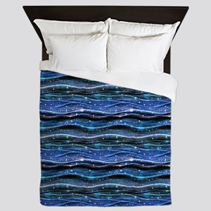 Sparkling Waves Queen Duvet