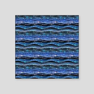 Sparkling Waves Square Sticker 3 x 3