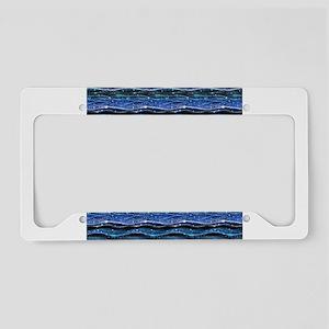 Sparkling Waves License Plate Holder