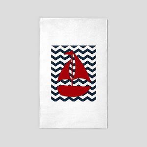 Sail boat 3'x5' Area Rug