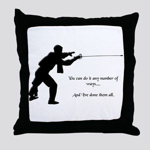 Fencing Style 1 Throw Pillow