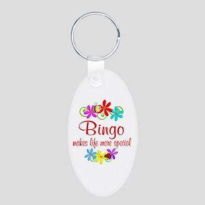 Bingo is Special Aluminum Oval Keychain