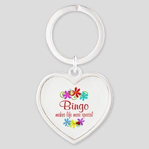 Bingo is Special Heart Keychain